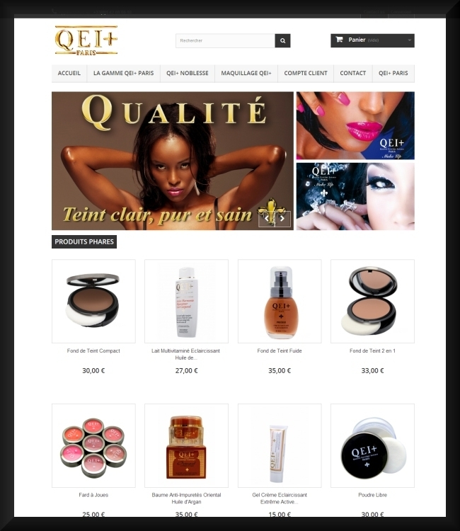 Site E-Commerce Responsive QEIplus-Paris.com